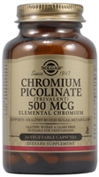 Chromium Picolinate - 500 mcg - 60 Vegetable Capsules - Solgar