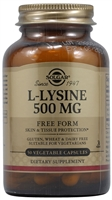 L-Lysine - 500 mg - 50 Vegetable Capsules - Solgar