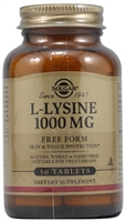 L-Lysine - 1000 mg - 50 Tablets - Solgar