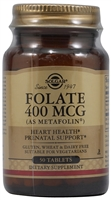 Folate - 400 mcg - 50 Tablets - Solgar