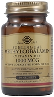 Methylcobalamin Sublingual Vitamin B12 - 1000 mcg - 30 Nuggets - Solgar