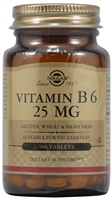 Vitamin B6 - 25 mg - 100 Tablets - Solgar