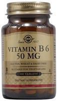 Vitamin B6 - 50 mg - 100 Tablets - Solgar