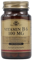 Vitamin B6 - 100 mg - 100 Tablets - Solgar