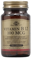 Vitamin B12 - 100 mcg - 100 Tablets - Solgar
