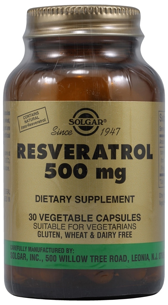 Resveratrol 500 Mg 30 Vegetable Capsules