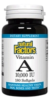 Vitamin A 10,000 IU - 180 softgels - Natural Factors