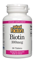 Biotin 300 mcg - 90 Tablets - Natural Factors