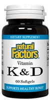 Vitamin K & D - 60 Softgels - Natural Factors