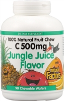 Vitamin C 500mg Jungle Juice 90 Chewable Wafers - Natural Factors