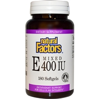 Vitamin E Mixed Tocopherols - 180 Softgels - Natural Factors