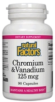 Chromium & Vanadium 100mcg/25mcg - 90 Caps - Natural Factors
