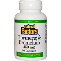 Turmeric & Bromelain 300mg/150mg - 90 Caps - Natural Factors