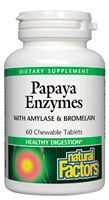 Papaya Enzymes Chewable - 60 Tablets - Natural Factors