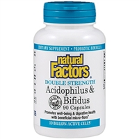 Acidophilus & Bifidus Double Strength - 90 Caps - Natural Factors