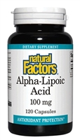 Alpha-Lipoic Acid 100mg - 120 Caps - Natural Factors