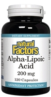 Alpha-Lipoic Acid 200mg - 120 Capsules - Natural Factors