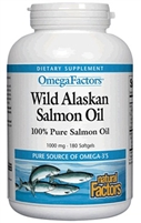 Wild Alaskan Salmon Oil 1000mg - 180 Softgels - Natural Factors