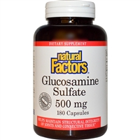 Glucosamine Sulfate 500mg - 180 Caps - Natural Factors