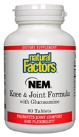 NEM Knee & Joint Formula 60 Tablets Natural Factors 068958026855