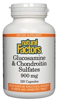 Glucosamine & Chondroitin 500mg/400mg - 120 Caps - Natural Factors