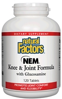NEM Knee & Joint Formula - 120 Tablets - Natural Factors: 068958026893