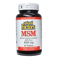 MSM 1000mg - 90 Tabs - Natural Factors