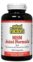 MSM Joint Formula - 180 Caps - Natural Factors