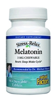Stress-Relax Melatonin 3mg - Chewable 90 Tabs - Natural Factors