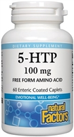 Stress-Relax 5-Htp 100mg Enteric 60 Caps Natural Factors 068958028293