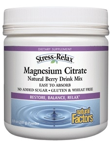Stress Relax Magnesium Citrate Powder 8 8 Oz Natural
