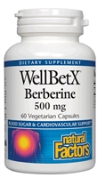 WellBetX  Berberine 500 mg - 60 Capsules - Natural Factors