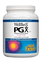 WellBetX PGX Weight Management Shake French Vanilla - 1.9 lb Powder - Natural Factors