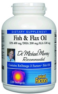 Rx Omega-3 Factors Fish & Flax - 120 Softgels - Natural Factors