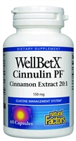 WellBetX CinnamonRich Cinnamon Extract 150mg - 60 capsules - Natural Factors