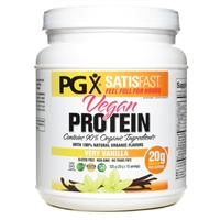 PGX Satisfast Vegan Protein Shake - Vanilla 18.5 Oz. - Natural Factors