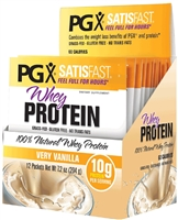 PGX Satisfast  Whey Protein 100% Natural Whey Protein, Vanilla - 12 Packets - Natural Factors