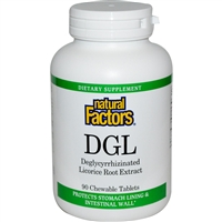 DGL 400mg - 90 Tabs Chewable - Natural Factors