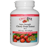 Cherryrich Super Strength - 500mg, 90 Softgels - Natural Factors