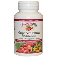 Grapeseedrich - Grape Seed Extract - 100mg, 90 Caps - Natural Factors