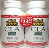 CLA Tonalin - 1000mg, 60+60 Softgels - Natural Factors