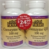 Coenzyme Q10 - 100mg, 60+60 Softgels - Natural Factors