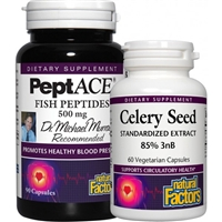 Peptace Fish Peptides - 500 mg, 90 + 60 Caps Celery Seed - Natural Factors