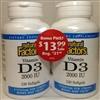 Vitamin D3 2,000 Iu 120+120 softgels - Natural Factors