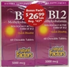 B-12 Methylcobalamin - 5,000mcg 60+60 tablets - Natural Factors