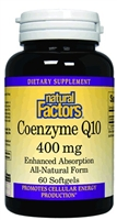 Coenzyme Q10 - 400mg, 60 Softgels - Natural Factors