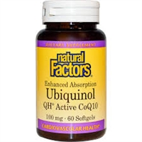Ubiquinol Qh Active Coq10 100mg, 60 Softgel Natural Factors 068958207261