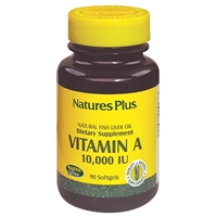 Vitamin A 10,000 IU Softgels - 90 Count Bottle (90 Servings) - Natures Plus