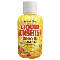 Liquid Sunshine Vitamin D3 5000 IU - Tropical Citrus - 16 fl. oz. / 473.18 ml Bottle (32 Servings) - Natures Plus