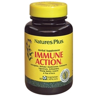 Immune-Action Herbal Vcaps - 60 Count Bottle (60 Servings) & 120 Count Bottle (120 Servings) - Natures Plus